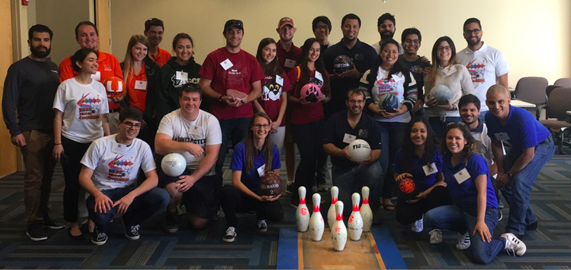 ACI Student Chapter at FIU place 2nd and 3rd in Concrete Bowling Ball Competition