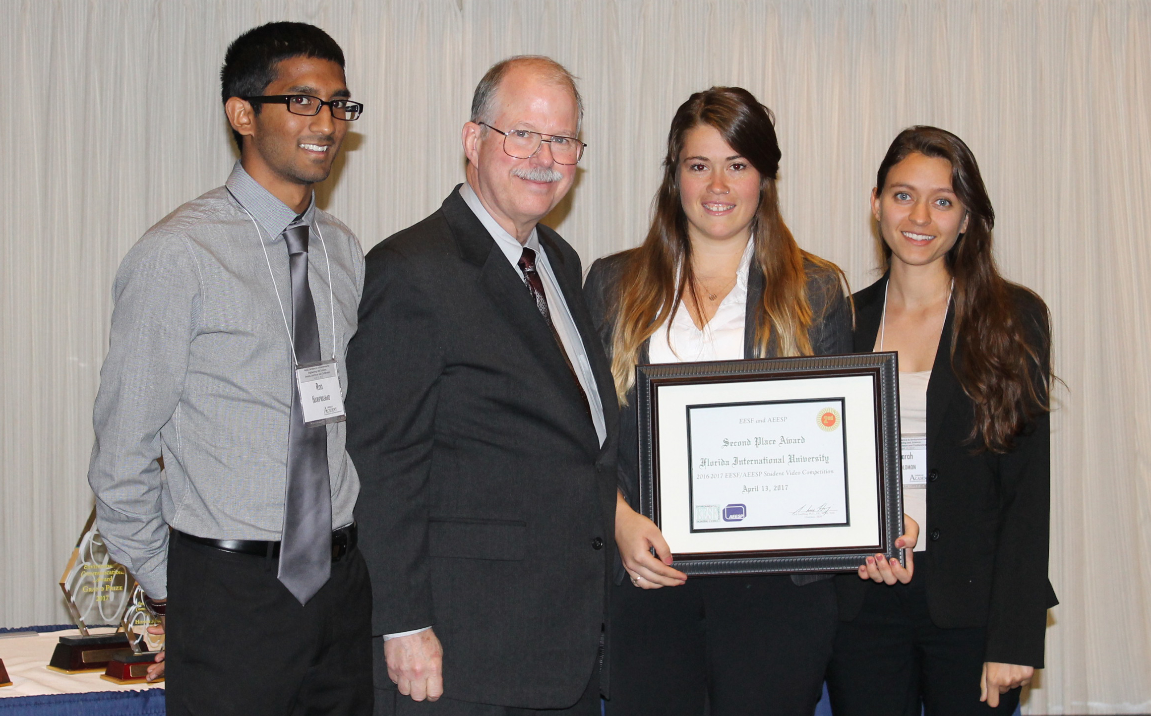 AAEES FIU Chapter placed 2nd in the 2016-2017 EESF/AEESP Student Video Competition