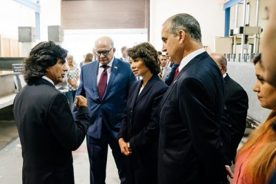 Transportation leaders visit FIU's federally designed research facilities